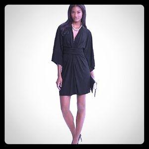Issa/Banana Republic Black Kimono Sleeve Dress